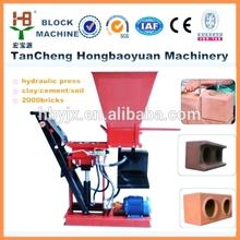 HBY1-15 interlock clay&red soil block making machine in Lagos