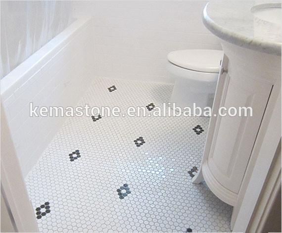 bagno in mosaico porcellana pavimento nero bianco e piastrelle ...