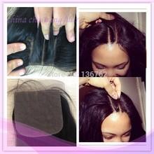 top grade virgin human hair weave three part lace closure