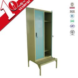 Factory price metal material double door iron bench clothing cupboard