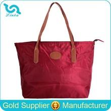 Promotional Brand Design Nylon Tote Bag Fashion Lady Nylon Handbag Nylon Bag