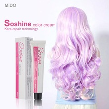 Professional organic permanent hair dye with hair color wheel