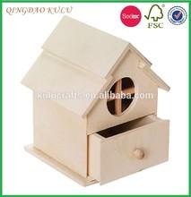 handicraft natural wood outdoor garden wooden bird house