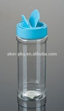 plastic 8 oz spice bottles with caps and screens