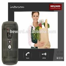 access control vandalproof wire intercom video door phone home security system