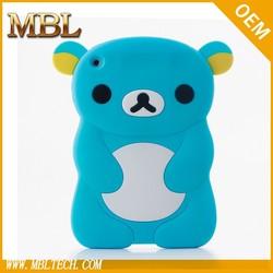 bear silicon case cover for ipad mini, soft case cover for mini ipad