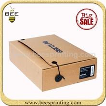 Tab Lock Small Kraft Paper Cookie Corrugated Box, Programmable Lock Box For Files