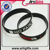 2015gold supplier 100% quality control fashional silk print silicone wristband