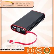 emergency portable multi-function 12v mobile power pack battery jump starter