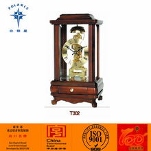 Wood Antique Mechanical Quartz Desktop Table Clock