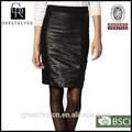moda saia de couro 2014 sexy das senhoras saia de couro do falso couro saia preta com zíper para as mulheres do escritório