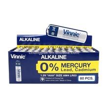 lr03 am4 AAA 0% Mercury Alkaline Dry Battery
