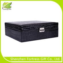 Rectangle Shape Leather Box for Jewelry, PU leather Packaging Box for Jewelry ,Metal Lock Leather Jewelry Box