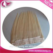 "Alibaba express wholesale 7a brazilian virgin hair 8-30"" natural color flip in double weft hair extension"