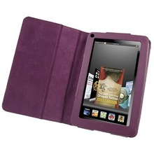 7 inch Book Style Leather Case with Holder for Amazon Kindle Fire (Purple)