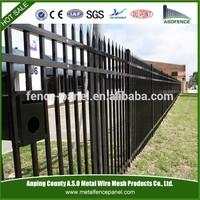 High Security galvanised tubular steel fence
