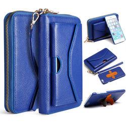Original Design Genuine Leather Wallet Case for IPhone6 Purse Card Holder