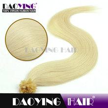 blonde hair extensions Bleach White Blonde (#613)U TIP hair, alibaba in italy