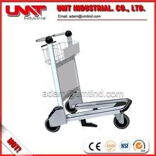 3 wheels hand Aluminum Alloy Airport trolley, airport cart