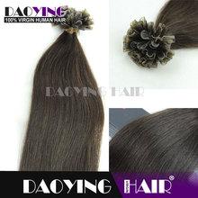 brazilian virgin human hair Dark Brown (#2) U-TIP hair, moroccanoil hair treatment