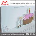 hermosa calidad garantizada competitivo caliente china 3d de cumpleaños hecha a mano las tarjetas de invitación