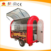 CE APPROVAL coffee and ice cream mobile food vending kiosk