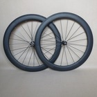 Chinese Carbon Clincher Wheelset 60mm deep 23mm wide with novatec hubs