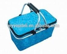 new year gift 2015 new design folding 600D rectangular wicker storage basket storage basket with lid