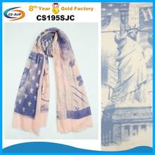 America souvenir scarf USA flag printed scarf