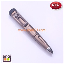 cartridge bullet shape tactical pen with short but heavy designed