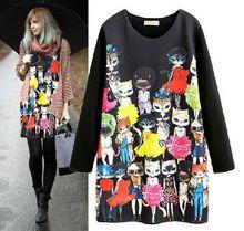 HFR-T1250 Cartoon cat pattern frozen dress