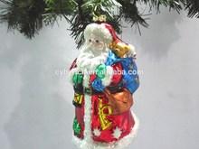 New Style Christmas Glass Santa Decoration