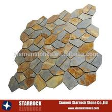 natural color quartzite&slate crazy cut tile
