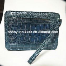 Newest design crocodile exterior cellglass slot pocket wallet