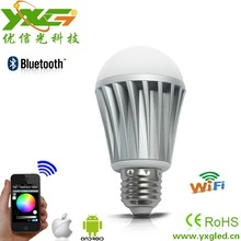 7.5W Led smart light bulb, wifi led bulb for Apple and android application , iso sofeware operating