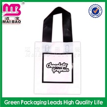 custom logo printed disposable thank you shopping carrier bag
