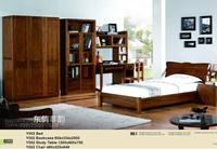 kid solid wood bed top quality home furniture / carved bed room set / solid wood modern design bedroom set
