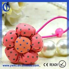 cloth ponytail holder headdress flower assorted synthetic hair ponytail holder