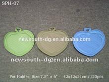 2014-2015 new design heart shape silicon pot holder