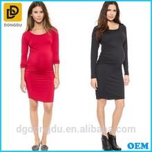 Long Sleeve Pregnant Daily Wear Dress Maternity Wear