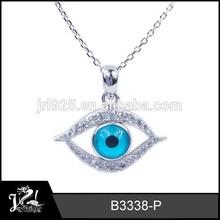 Real diamante de mal de ojo encanto colgante de joyería, natural azul zafiro de mal de ojo colgante, mal de ojo turco colgante joyería religiosa