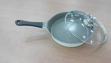 die casting aluminum korean round electric frying pan/white ceramic fry pan/