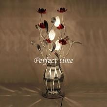 G4 Flower Table Lamp Handcraft Aluminum Wedding Desk Lamps for Home Decor