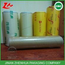 PVC cling wrap plastic film clear PVC roll,food cover film,food packaging film PVC cling film
