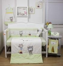 2015 new design handmade 3D china soft popular baby bedding set 100% plain cotton KLF 418