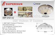 2015 IP camera, 360 degree bird view wireless ip camera fisheye