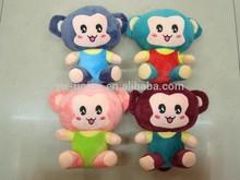New design stuffed soft monkey toy / small 18cm plush animal monkey