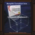 acrylic donation box with key lock