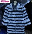 China Daying amoladora rex conejos chinchilla abrigos venta al por mayor y de piel de conejo chinchilla capa / abrigo de piel para mujeres