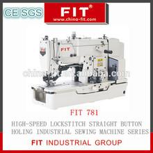 High Speed Lockstitch Straight Button Holing Industrial Sewing Machine Series